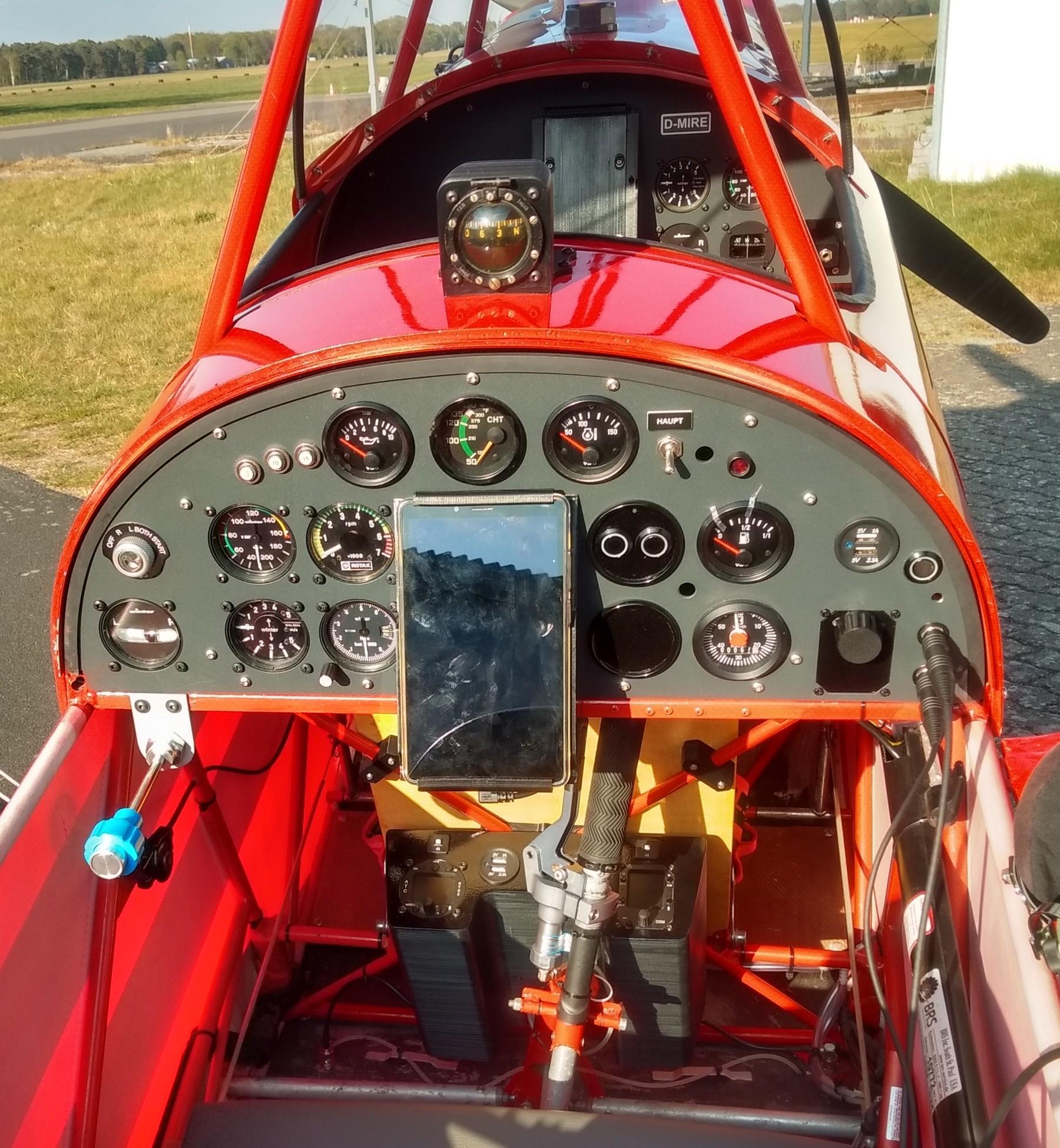 Renoviertes Cockpit